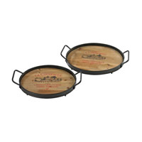 Sterling Signature Tray in Hand Rubbed Wood and Rust 51-10092/S2