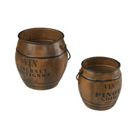 Sterling Signature Bin in Stained Wood Tone With Iron Accents 51-10095/S2