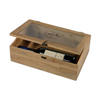 Sterling Signature Wine Box in Bleached Wood 51-10096