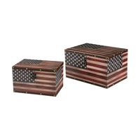 Sterling Signature Box in Red and White and Blue With Antique 51-10106/S2