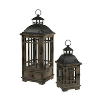 Signature 10 inch Wood and Hazelnut Bronze Lantern Ceiling Light