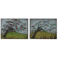 Autumn and Spring 20 X 15 inch Metal Wall Art