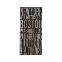Sterling American Cities 1 Wall Decor in Distressed Black 51-10114