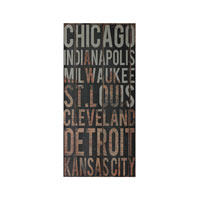Sterling American Cities 2 Wall Decor in Distressed Black 51-10115