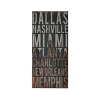 American Cities Distressed Black Wall Décor