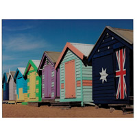 Beach Hut 32 X 25 inch Art Print