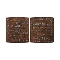 Sterling Signature Wall Decor in Dark Chestnut Crackle 51-10132/S2