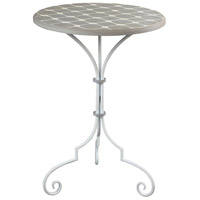 Ayer 20 X 20 inch Grey and White Side Table Home Decor