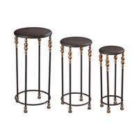 Sterling Dudley Accent Table in Dark Bronze with Dark Red Antique 51-10137/S3