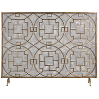 Sterling Geometric Fire Screen in Antique Silver 51-10160