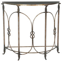 Bordeaux 38 X 35 inch Black/Heavily Antiqued Silver Accent Table