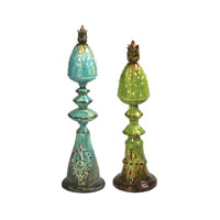 Sterling Industries Set of 2 Embossed Pineapple Finials Decorative Accessory 51-1633