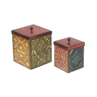 Sterling Industries Set of 2 Geometric Medallion Boxes Decorative Accessory 51-4101