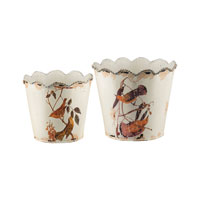 Sterling Industries Set of 2 Bird And Branch Planters 51-4531