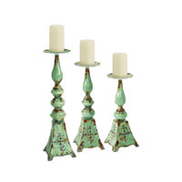 Sterling Industries Set of 3 Embossed Medallion Candlesticks Decorative Accessory 51-4679