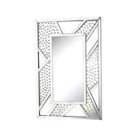 Jewel Inlay 47 X 32 inch Clear Wall Mirror Home Decor
