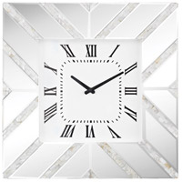 La Jolla Mother Of Pearl, Clear Glass Wall Clock