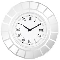 Bishopsgate Clear Mirror Wall Clock