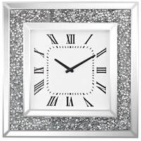 Kings Road Crushed Crystals, Clear Mirror Wall Clock