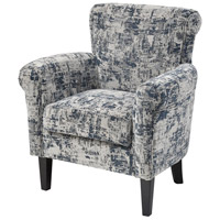 Kitty Hawk Blue with White and Black Accent Chair