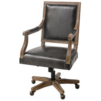 Sterling 5231-005 Lord Byron Dark Grey Polyurethane with Salvaged Grey Oak Office Chair