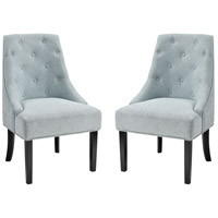 Nine Elms Seafoam Chenille with Black Accent Chair