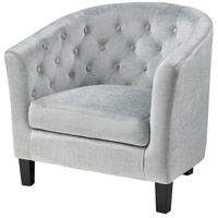 Indigo Rose Light Blue Velvet with Black Accent Chair