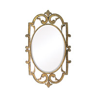 Woodside 40 X 24 inch Laurier Antique Gold Wall Mirror