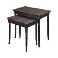Sterling 6042074 Signature 24 X 23 inch Faux Snakeskin Nesting Tables