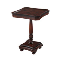 Signature 17 X 17 inch Dark Walnut Pedestal Table Home Decor