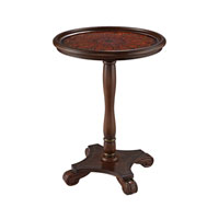 Signature 17 X 17 inch Bright Mahongany Pedestal Table Home Decor