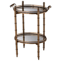 Signature 23 X 16 inch Antique Gold Tray Table Home Decor