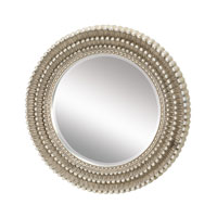 Dahila 35 X 35 inch Antique Silver Leaf Wall Mirror