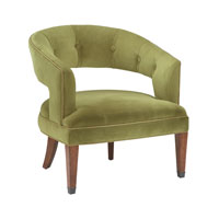 Signature Moss Green Velvet Chair Home Decor