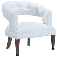 Signature White Faux Leather Library Chair