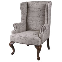 Marianne Mahogany Wing Chair