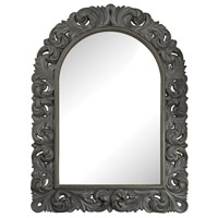 Arched Scroll 47 X 35 inch Black Ash Wall Mirror Home Decor