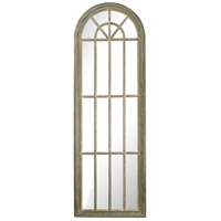 Arched Window 71 X 24 inch Grey White Wash Wall Mirror Home Decor