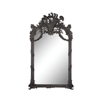 Renaissance Scroll 94 X 56 inch Black Ash Wall Mirror Home Decor