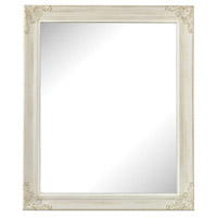 Masalia 24 X 20 inch Antique White Wall Mirror Home Decor