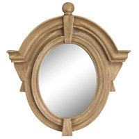 Sterling 6100-020 Parisian Dormer 26 X 25 inch Russian Oak Wall Mirror