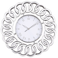 Chatelaine Clear Mirror Wall Clock