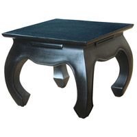 Sterling Signature Side Table in Black Finish Aged Antique 6500003