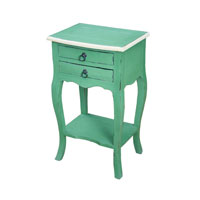 Signature 16 X 13 inch French Green and Cream End Table Home Decor