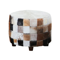 Signature Cow Hide Stool Home Decor