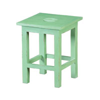 Sterling Signature Stool in French Green and Cream 6500554