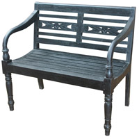 Signature Restoration Black Bench Home Decor