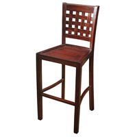 Signature Mahogany Bar Stool Home Decor