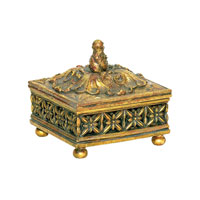 Sterling Industries Fretwork Trinket Box in Gold 7-0540