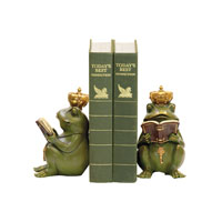 Sterling Industries Pair Superior Frog Gatekeeper Bookends Decorative Accessory in Painted 7-8188